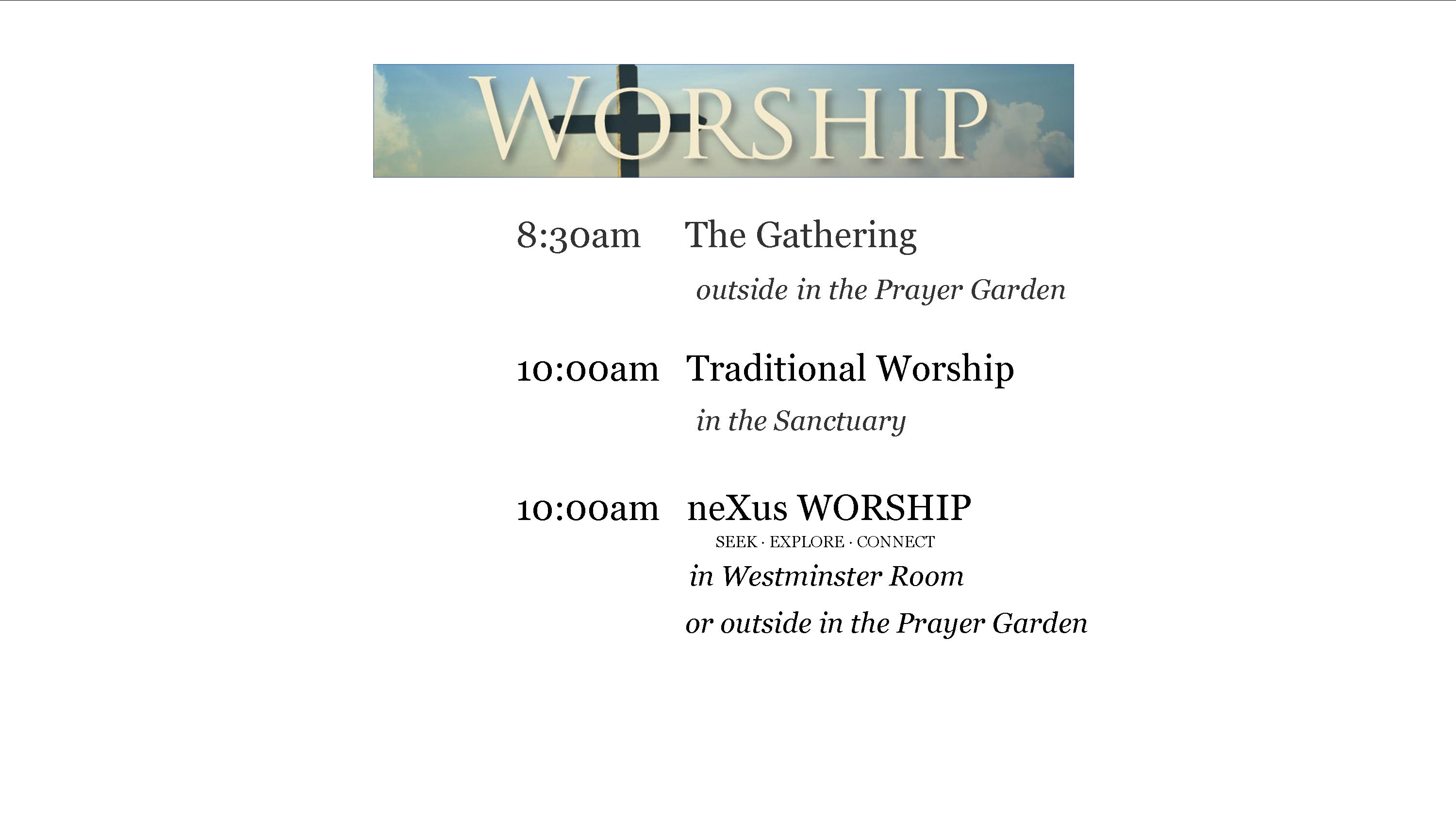 Worship-TImes_Early-Gathering